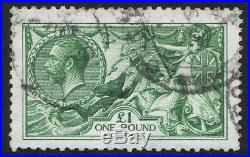 1913 SG403 £1 Green Seahorse Very Fine Used Expertised Dr Knopke Cat. £1400.00