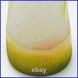 A Tall and Very Fine Emille Galle Cameo Glass Vase c1900