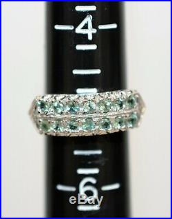 Alexandrite 1.12tcw 14kt White Gold Statement Cluster Women's Ring