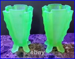 Bagley & Co the 1930's, England part of'Bamboo' pattern pair of Art Deco Fine