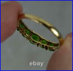 Beautiful Diopside Garnet and 9ct Gold Five Stone Stack Ring