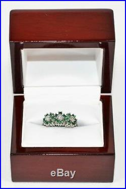 Blooming. 60tcw Colombian Emerald & Diamond 14kt White Gold Ring