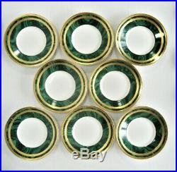 CHRISTIAN DIOR Fine China GAUDRON MALACHITE Pattern 8- CUP & SAUCER SETS
