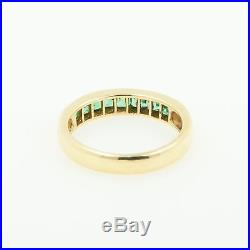 Classic Natural Green Emerald Ring 18k solid yellow gold Size 7 Fine jewelry