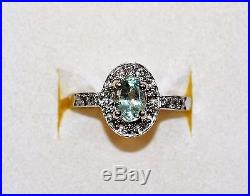 Color Changing GIA Certified 1.24tcw Alexandrite & Diamond 14kt White Gold Ring