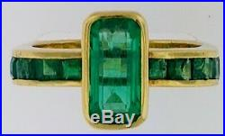 Designer ValentoLady's 2 CTS Colombian Emeralds+18K Yellow GoldRing$4,510WOW