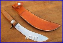 FINE Vintage RUSSELL Green River Works Carbon Steel Beef Skinning Knife withSheath