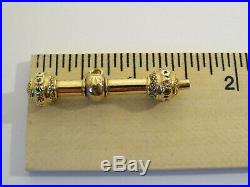 Fine Antique 18K Rose Yellow Green Gold French Pocket Watch Chain T-bar Key Fob