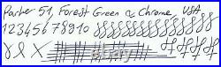 Gorgeous Parker 51 Aerometric, Forest Green, 14k Fine Nib, Made In USA
