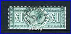 Great Britain 1891 £1 Green (SG 212) fine-used (D3427)