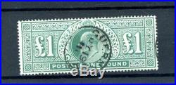 Great Britain 1902 £1 Green (SG 266) very fine-used (M831)
