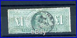 Great Britain 1911 £1 Deep Green (SG 320) very fine used (M304)