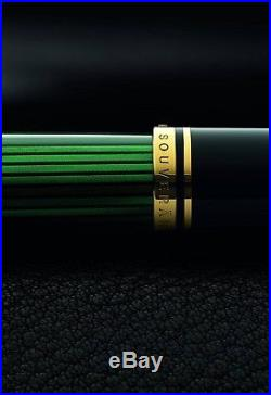 Green/Black Pelikan M800 Gold Medallion with a Extra Fine nib Excellent Cond