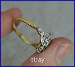 Impressive 18ct Gold Emerald and Vs Diamond Cluster Engagement Ring