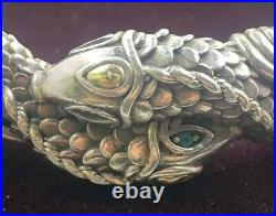 JAI By John Hardy 925 Silver and Solid 14k Sukhothai Green Leather Bracelet 51g