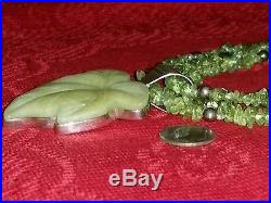Jay King Dtr 925 Green Leaf Pendant Sterling Peridot Necklace 24 Mine Finds Htf
