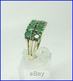 Mid-Century Colombian EMERALD Yellow Gold Ring 7 3/4 Est. 2 TCW