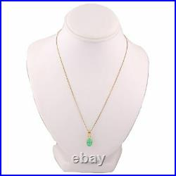 Modern 18k Yellow Gold 1.50ctw Emerald 18 Necklace