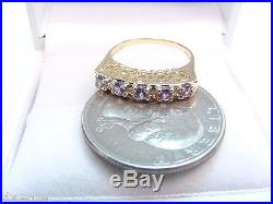 Natural Alexandrite Fine Colors. 40 Tcw 14k Gold Band Heart Filigree Sides