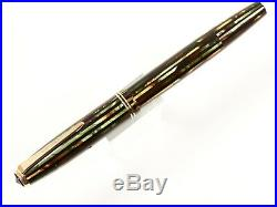 Parker Striped Duofold Fountain Pen In Green/brown/black With 14k Gold Nib/trim
