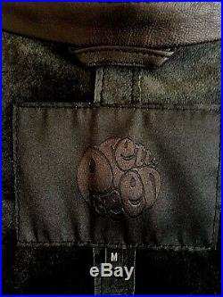 Pretty Green Black Leather Jacket, Fine Soft Leather, Size M Chest 39/41