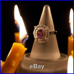 Rare! 1.98ctw Strong Color Change Natural Alexandrite Diamond 18k Gold Ring