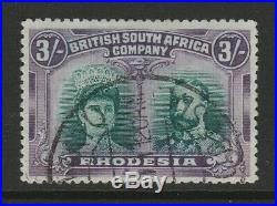Rhodesia 1910-13 George V 3/- Green and violet SG 158 Fine used