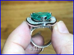 STUNNING 10 carats COLOMBIAN EMERALD GIA GOLD RING COLOMBIA