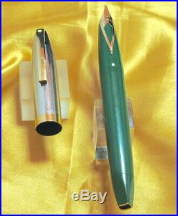Sheaffer PFM IV in Dark Green, and Polished Stainless. Snorkel Works Fine