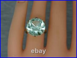 Vintage 9ct Gold 1970's Large 16.5ct Green Spinel Cocktail Ring, Size L 1/2