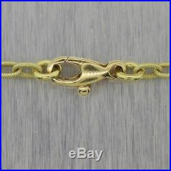 Vintage Estate 8.58G 18k Yellow Green Gold Fancy Link 16 Chain Necklace