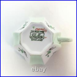Vintage SHELLEY Fine Bone China QUEEN ANNE Teacup and Saucer Charm in Pale Green