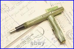 Waterman Green Pearl Celluloid Semi Flex Extra Extra Fine To Double Broad
